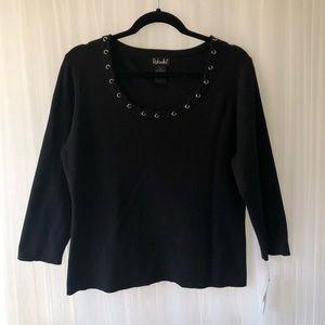 Rafaella Women's Black sweater NWT